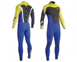 ION Wetsuit FL Strike Steamer 3/2 DL yellow/blue 106/XLT